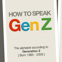 How to speak Gen Z: The alphabet according to Generation Z Infographic