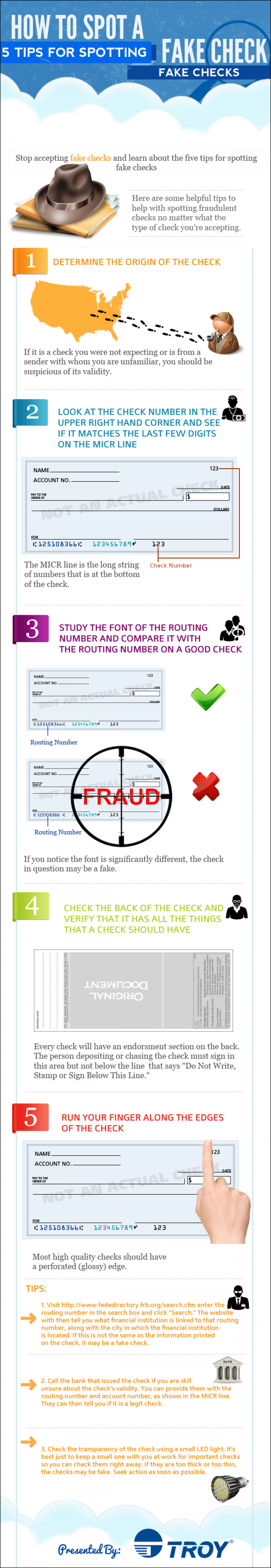 How to Spot a Fake Check Infographic