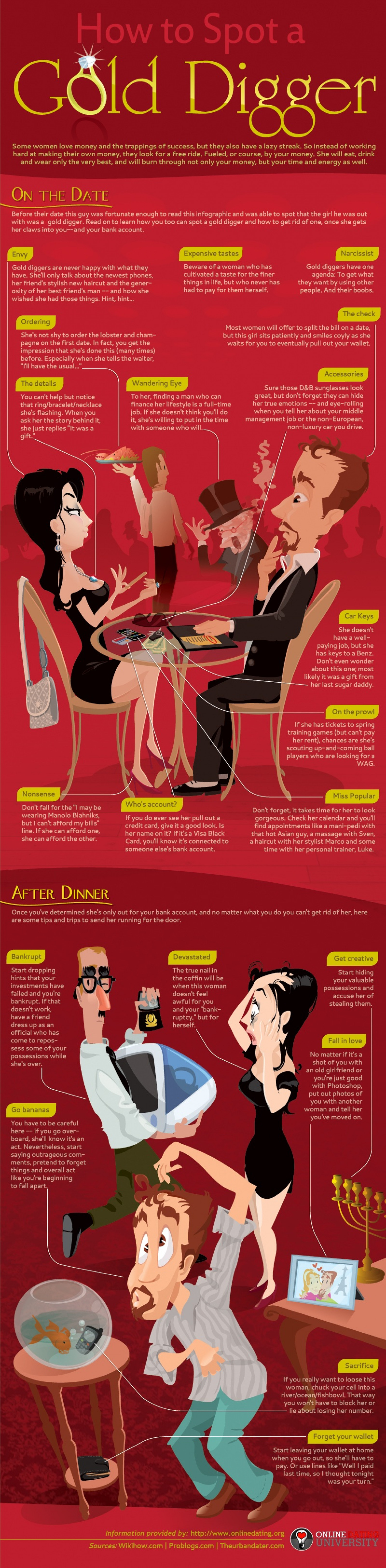 How to Spot a Gold Digger Infographic
