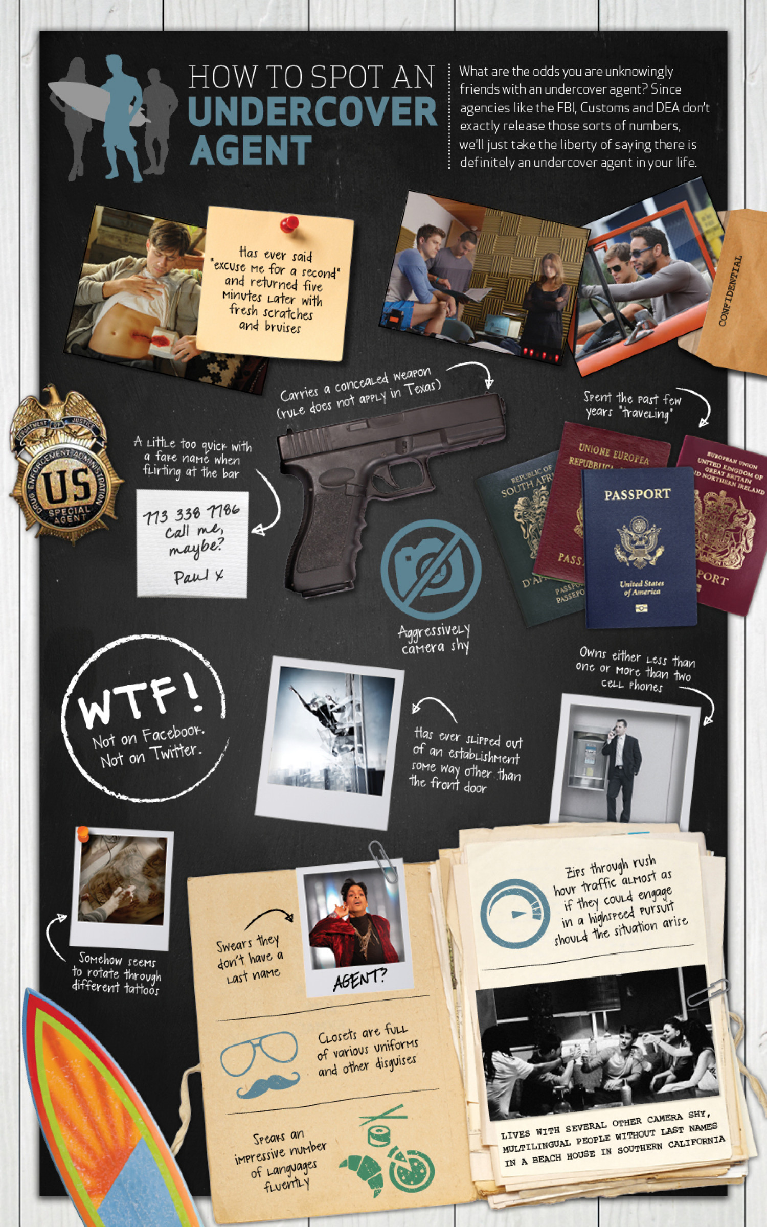 How to Spot an Undercover Agent Infographic