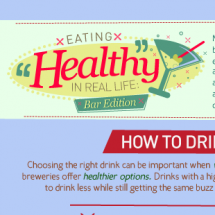 How To Stay Healthy When Going Out to Drink Infographic