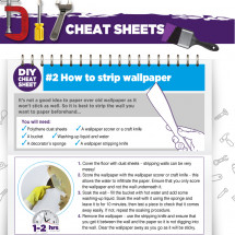 DIY Cheat Sheet - How to Strip Wallpaper Infographic