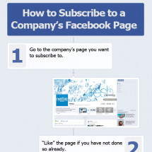 How to Subscribe to a Company's Facebook Page Infographic