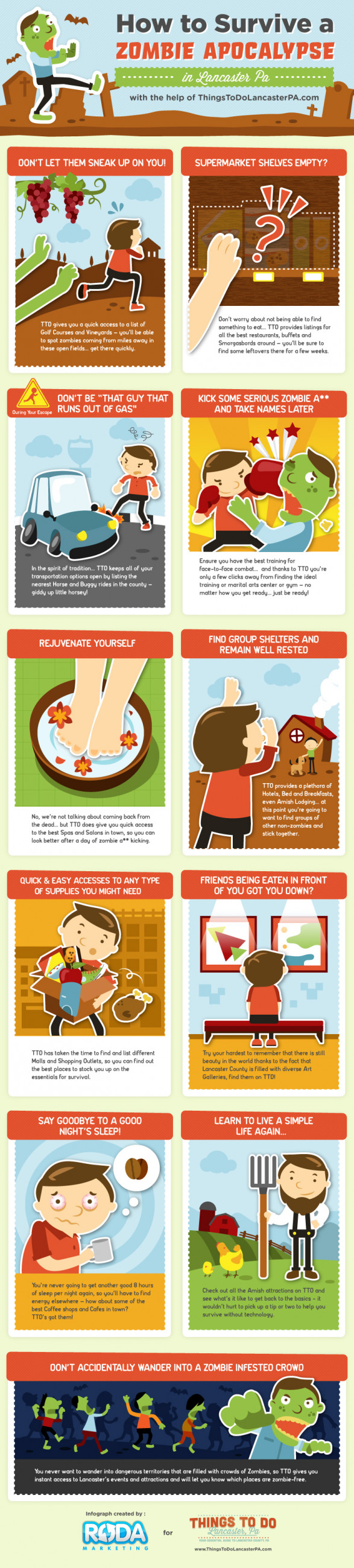 Zombie Apocalypse Survival Tips [INFOGRAPHIC]