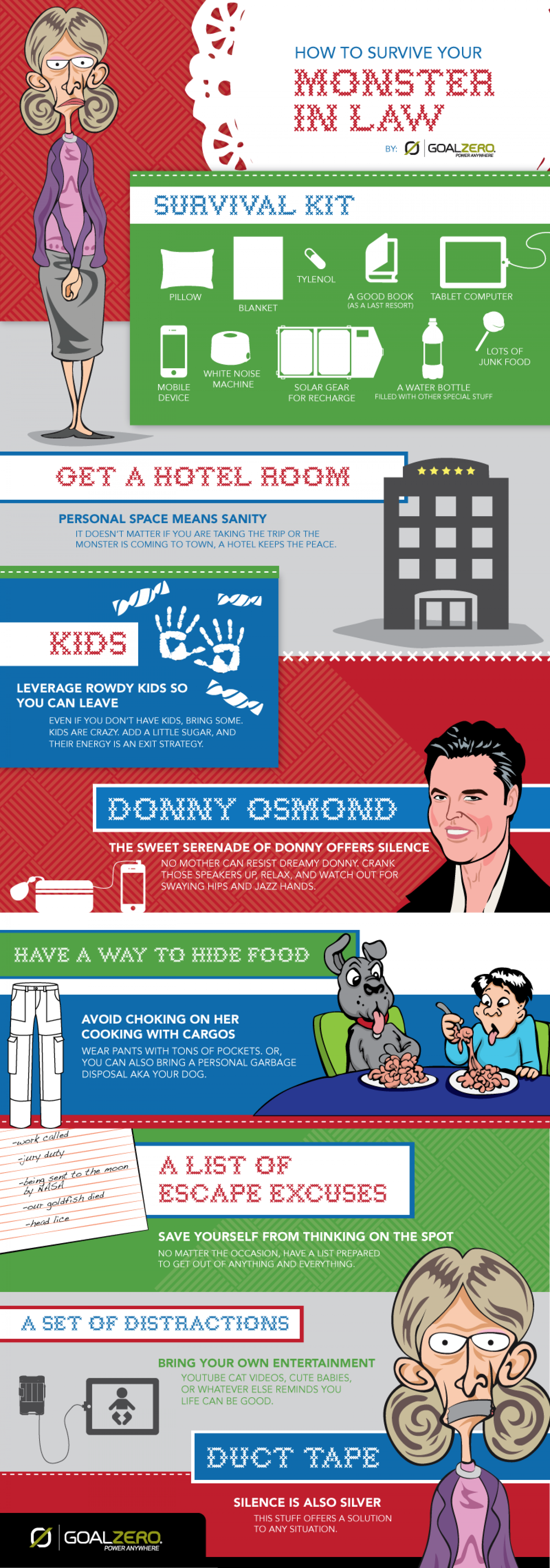 How to Survive Your Monster-In-Law Infographic