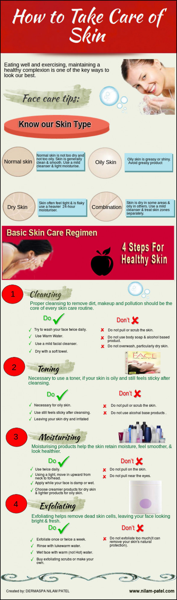 How to Take Care of Skin