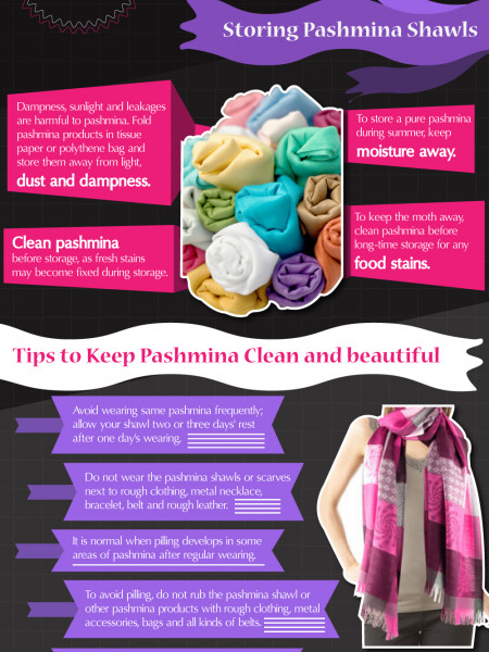 How to Take Care of Your Pashmina Infographic
