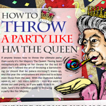How to Throw a Party Like the Queen Infographic
