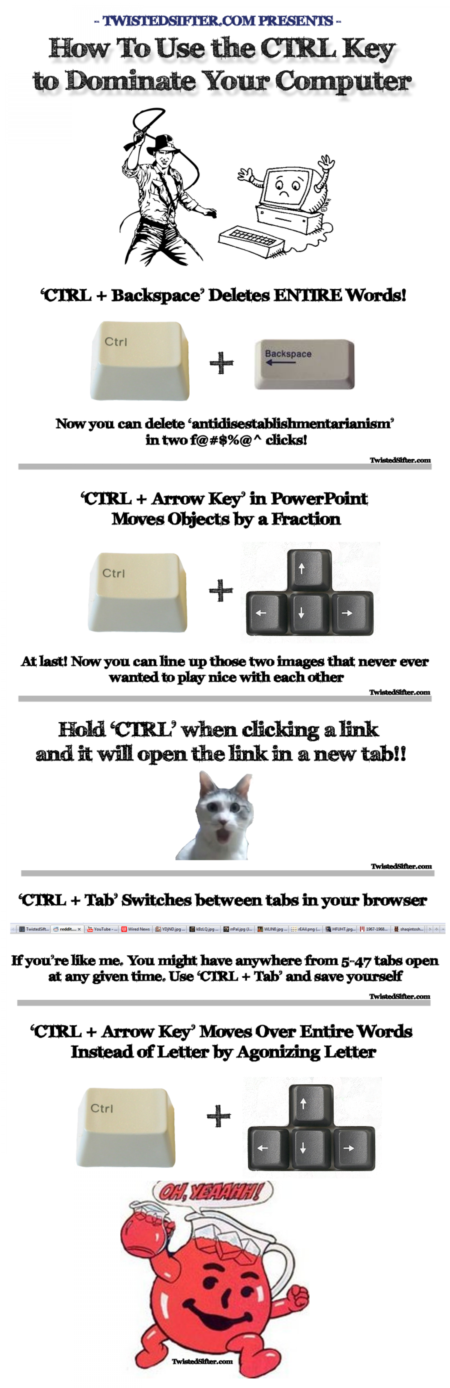 How to Use the CTRL Key to Dominate Your Computer Infographic
