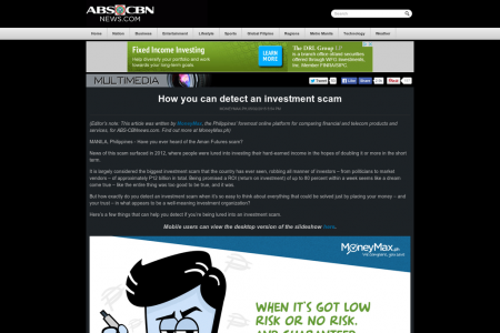 How you can detect an investment scam Infographic