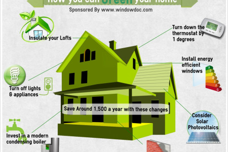How You Can Green Your Home Infographic