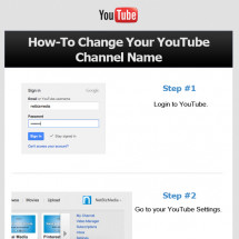 How-To Change your YouTube Channel Name [Instructographic] Infographic