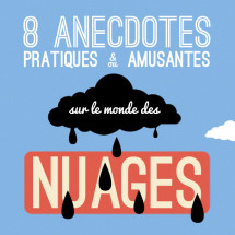 Huit anecdotes sur les nuages Infographic