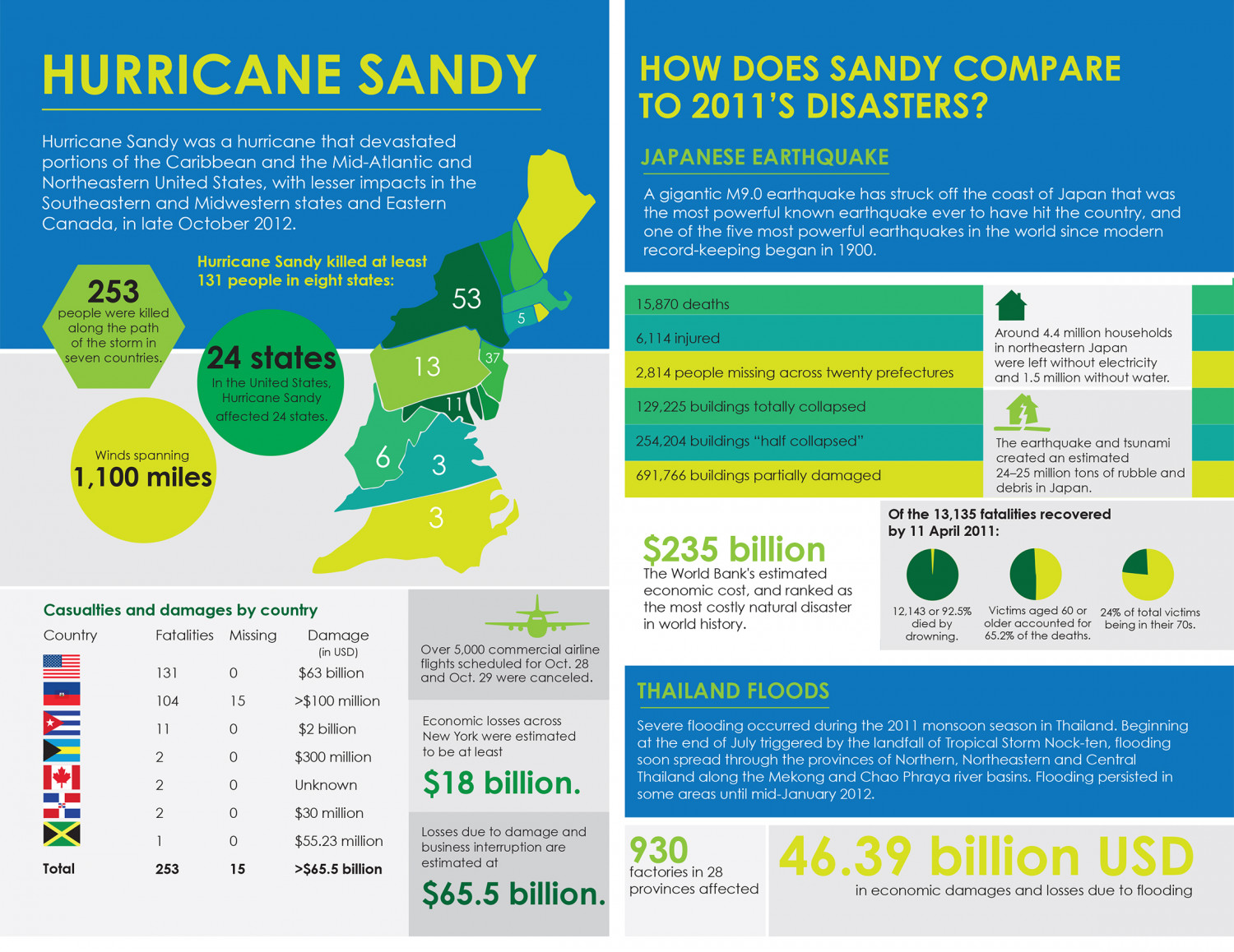 Hurricane Sandy Effects Infographic