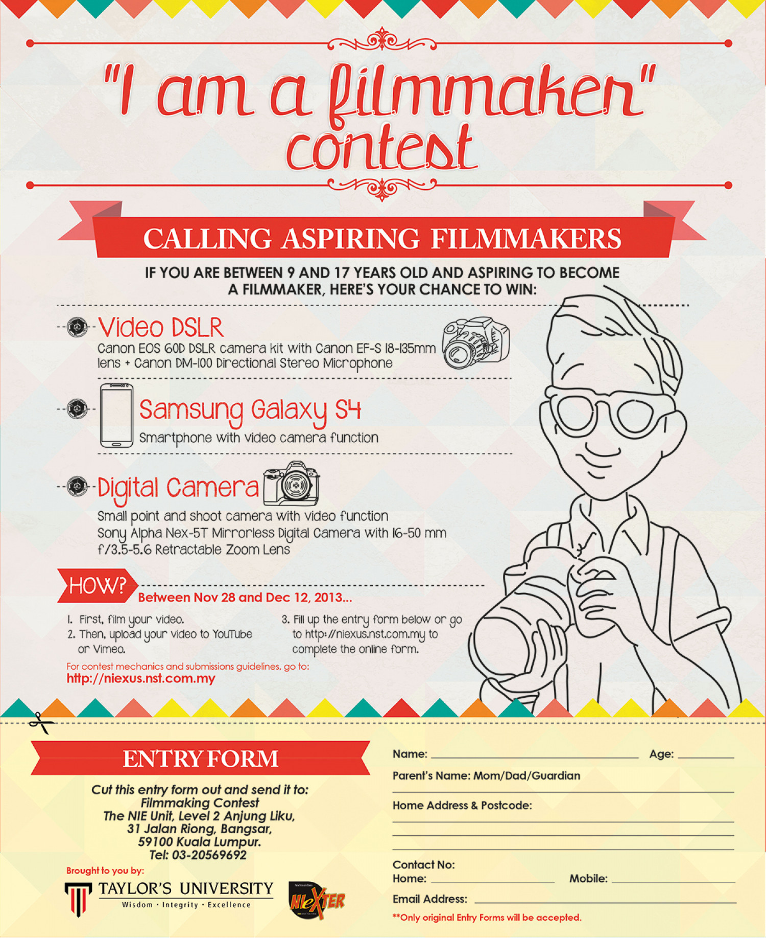 """I am a filmmaker"" Contest Ad Infographic"