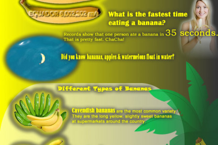 I love banana Infographic