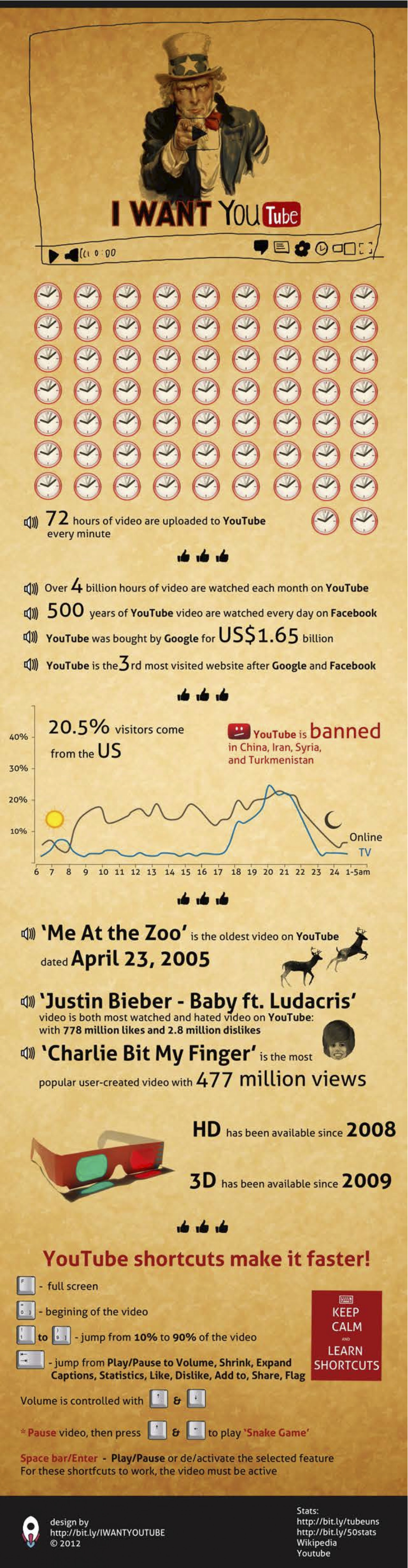 I want YouTube Infographic