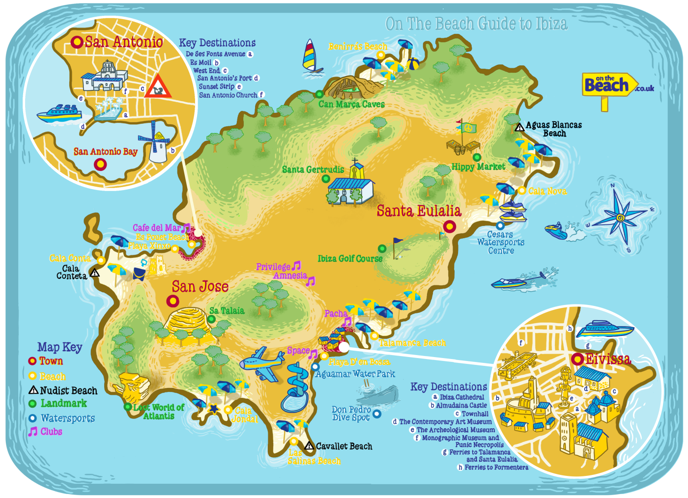 Ibiza Map From Onthebeach Co Uk Visual Ly