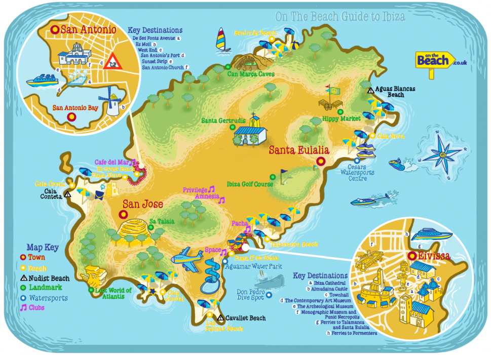 Ibiza Map from OntheBeach.co.uk Infographic