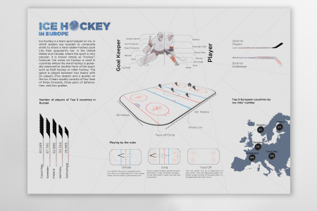 Ice Hockey Infographic Infographic