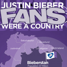 If Justin Biebe Fans Were A Country Infographic