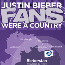 If Justin Bieber Fans Were a Country Infographic