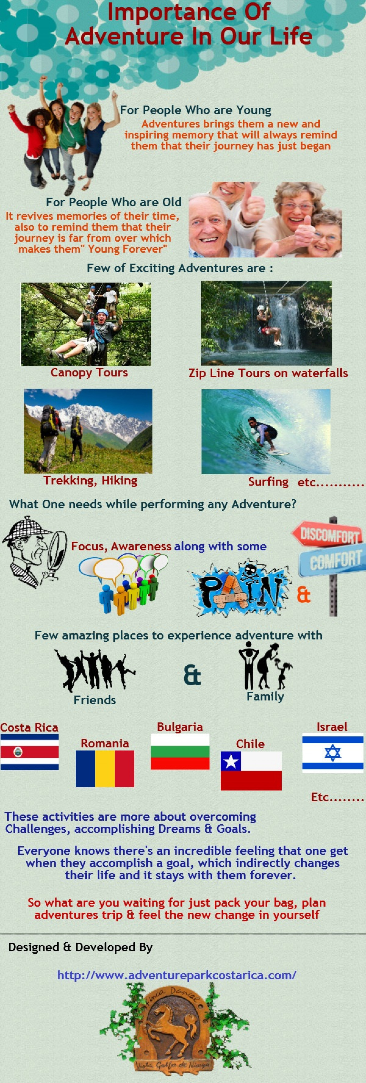 Importance of Adventure in Our Life Infographic