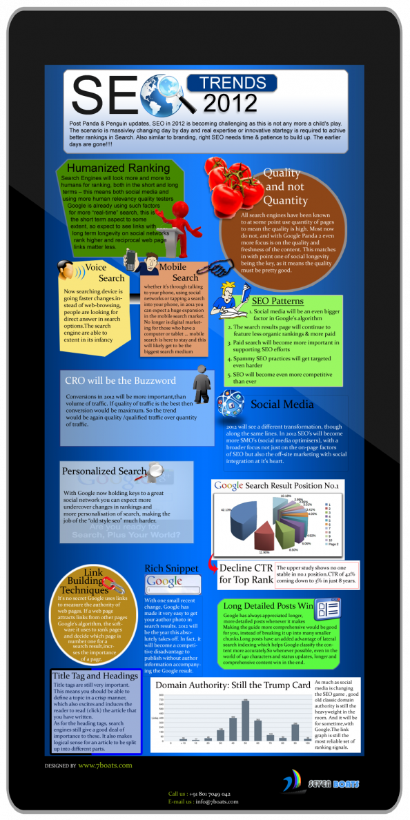 Important SEO Trends in 2012 & 2013 Infographic