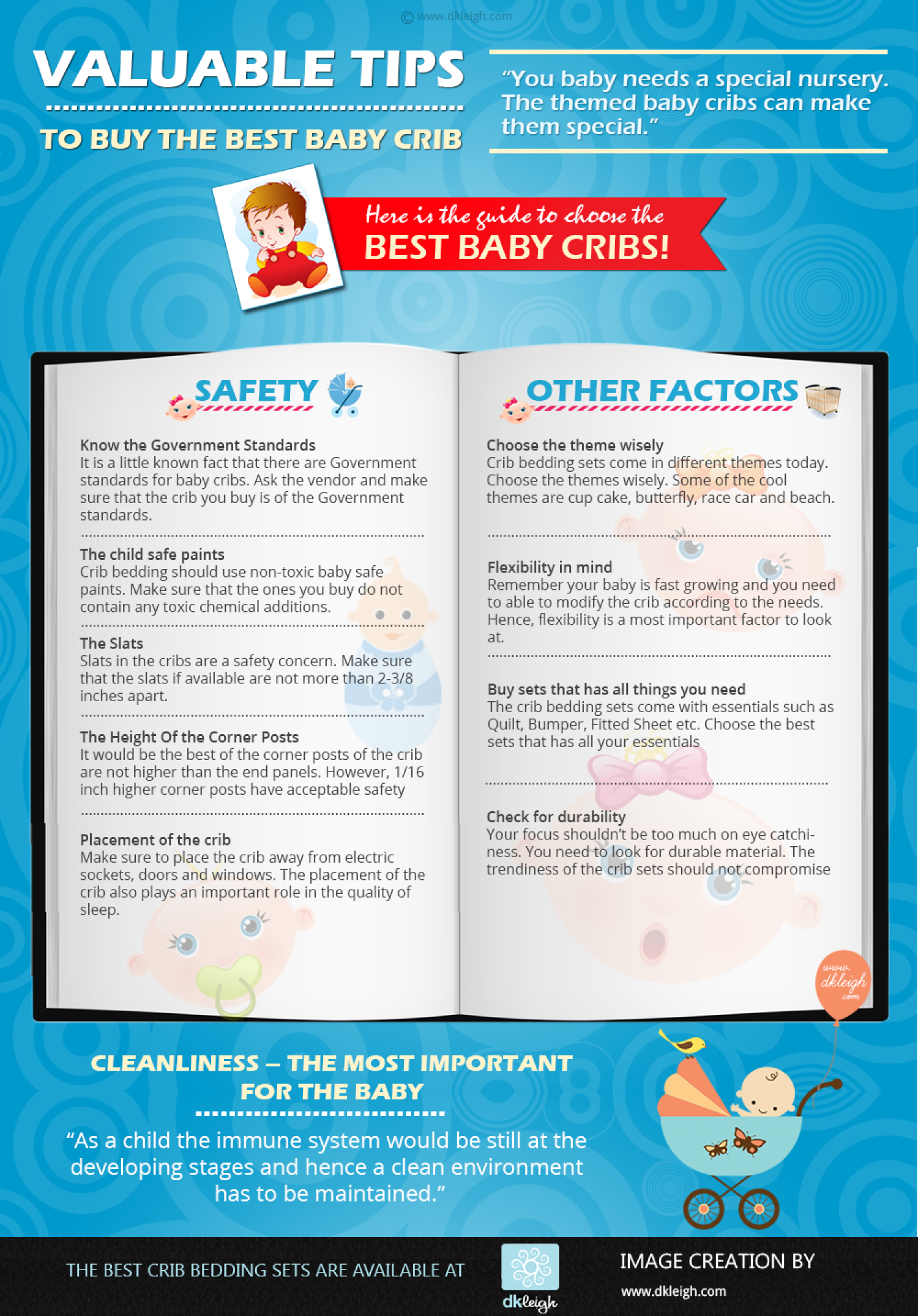 Important Things to Consider While Buying a Baby Crib Infographic