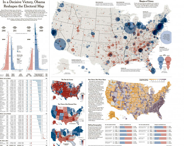 In a Decisive Victory, Obama Reshapes the Electoral Map