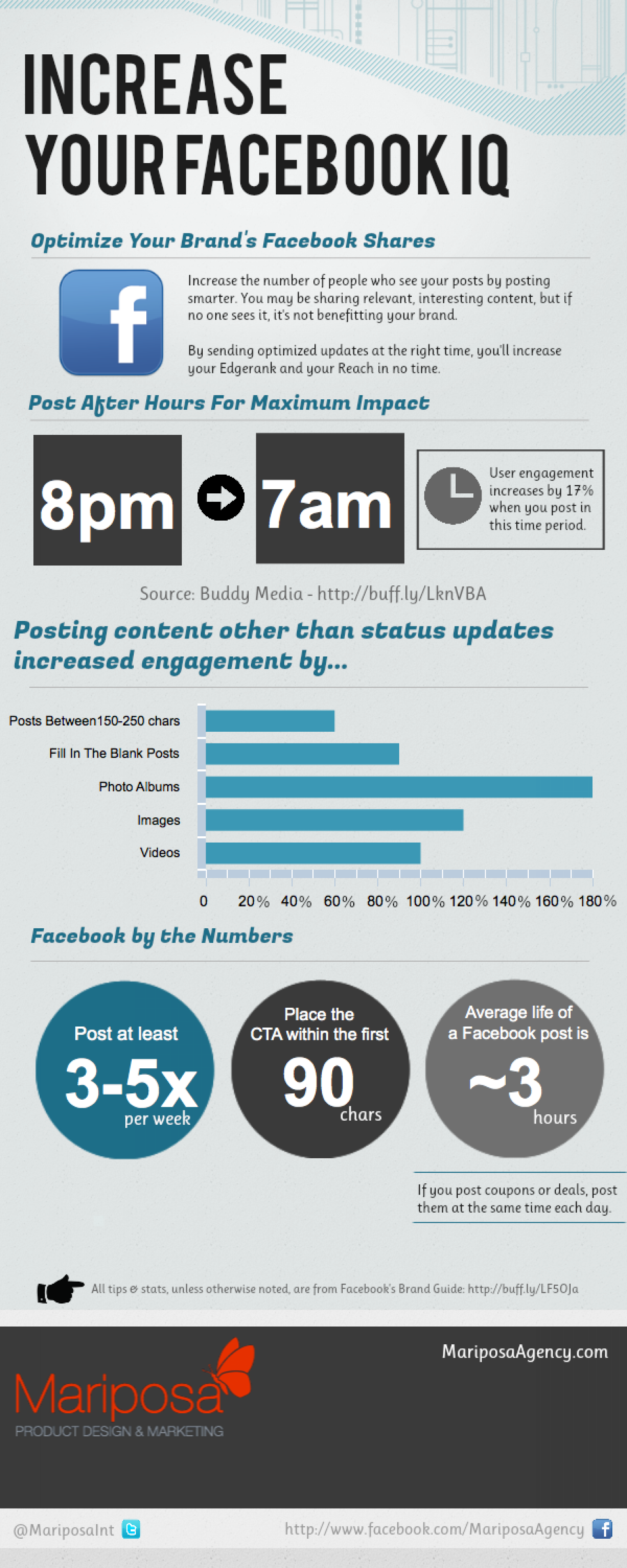 Increase Your Facebook Reach Infographic
