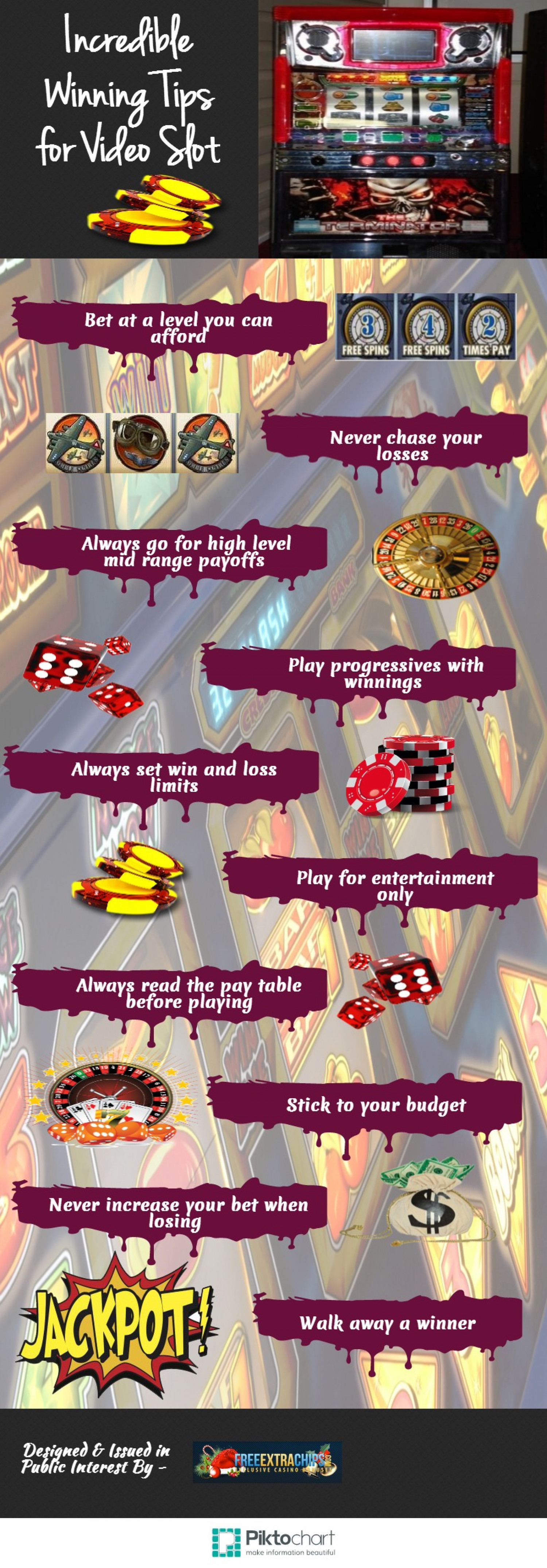 Incredible Winning Tips for Video Slot Infographic