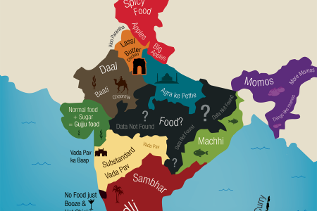 India according to a Delhi Foodie Infographic