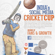 India's Social Media Cricket Cup Infographic