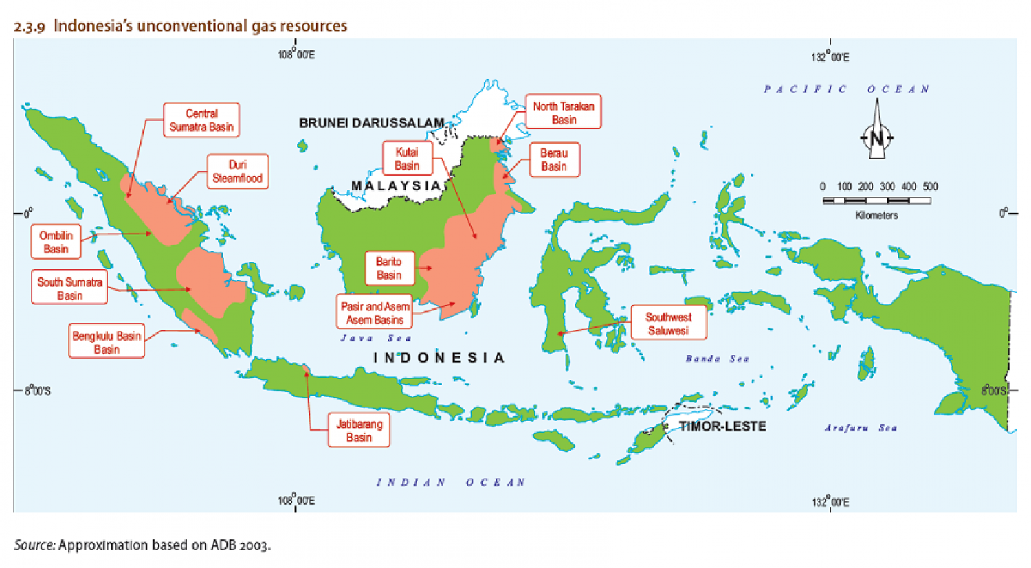 Indonesia's unconventional gas resources Infographic