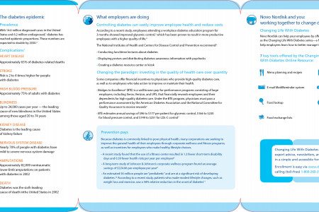 Info graphics for Diabetes brochure Infographic