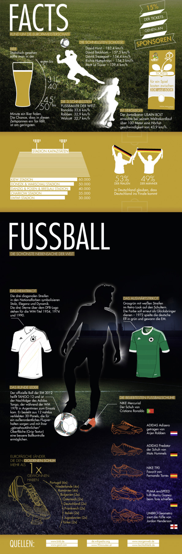 Infografik Fuball EM Infographic