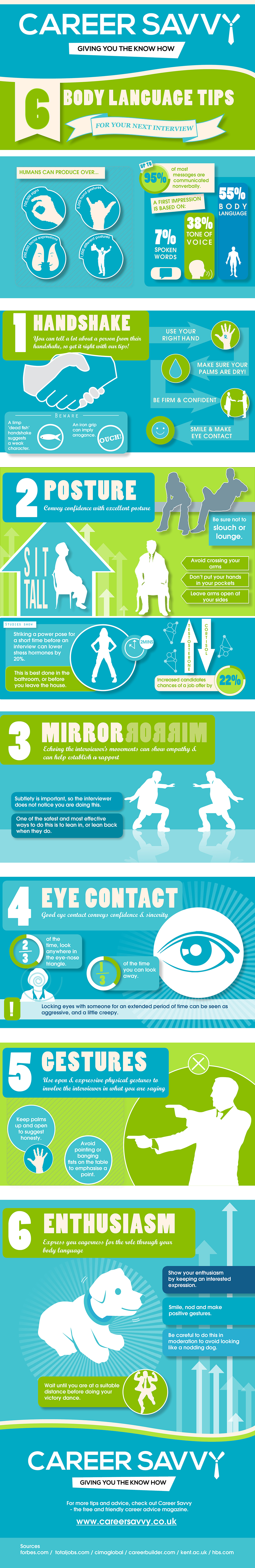 6 Body Language Tips For Your Next Interview [Infographic]