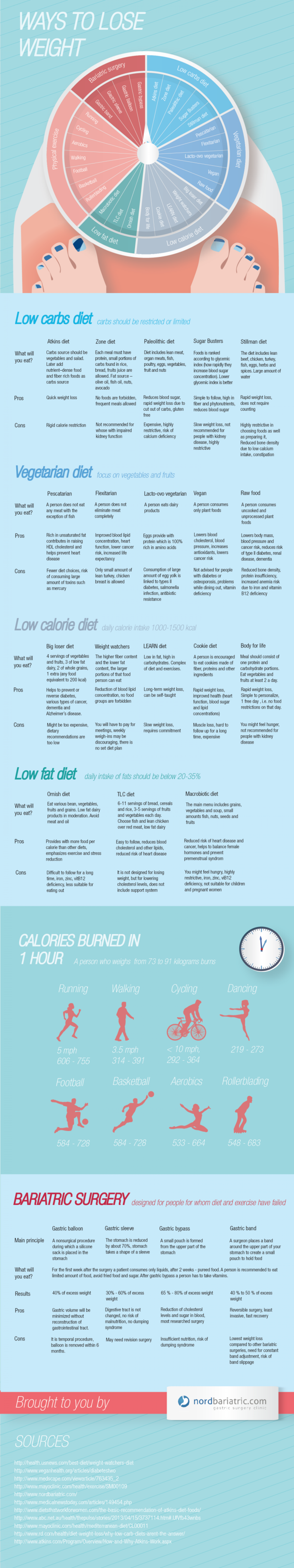 Ways to lose weight Infographic