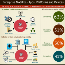 Infographic on Enterprise Mobility  Apps, Platforms and Devices Infographic