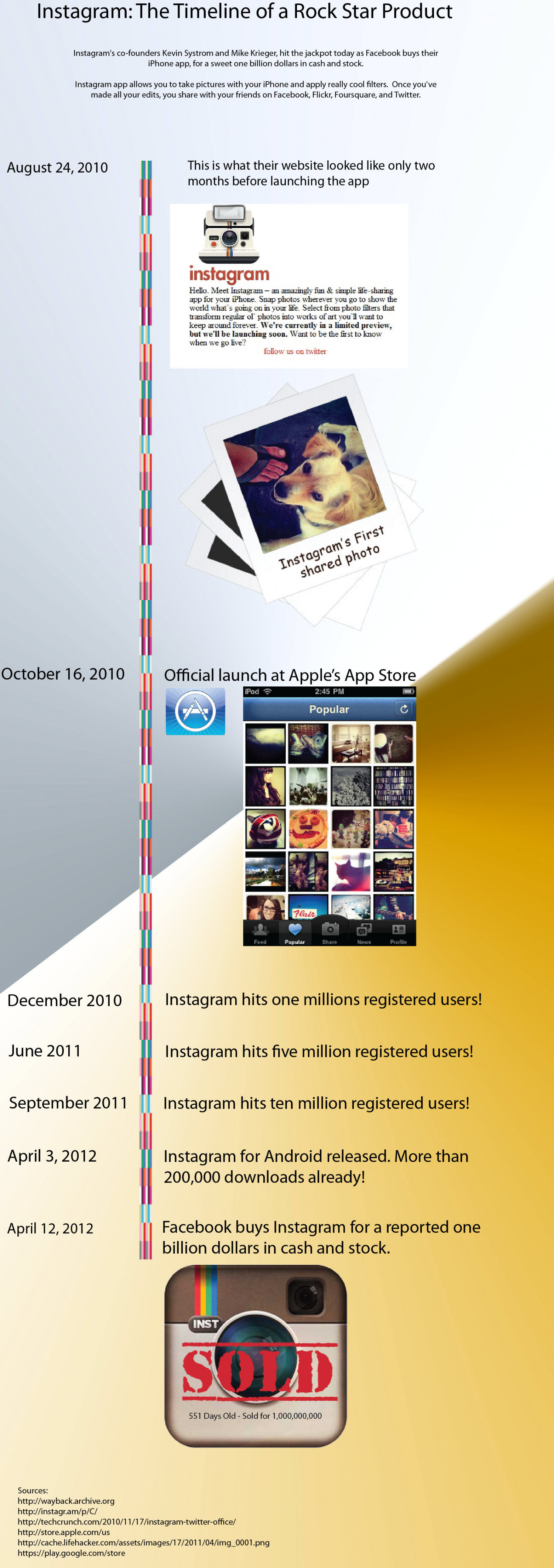 Instagram: The Timeline Infographic