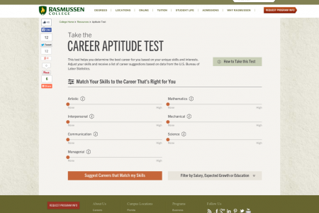 Interactive Career Aptitude Test Infographic