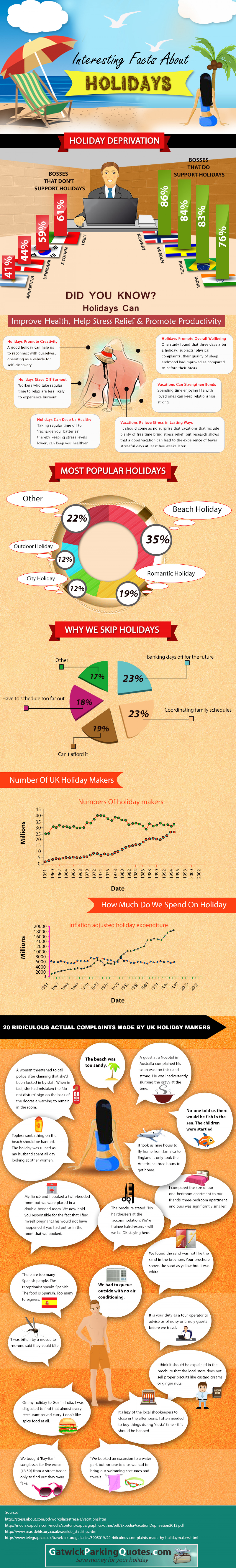 Interesting Facts About Holidays Infographic
