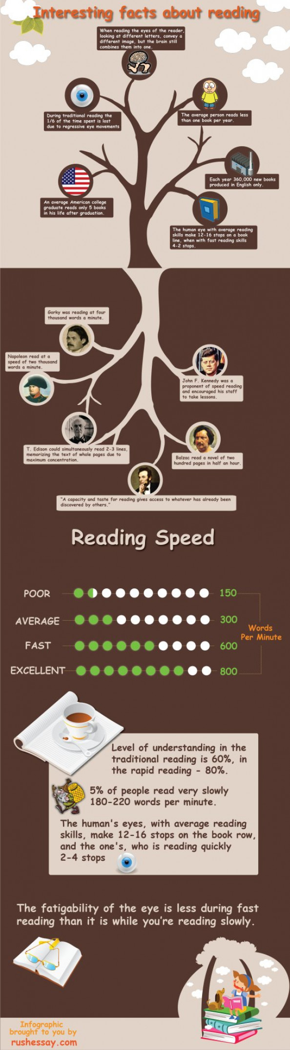 Interesting facts about reading Infographic