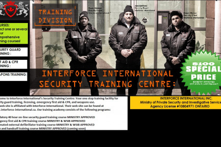 Interforce Security Training Centers Infographic