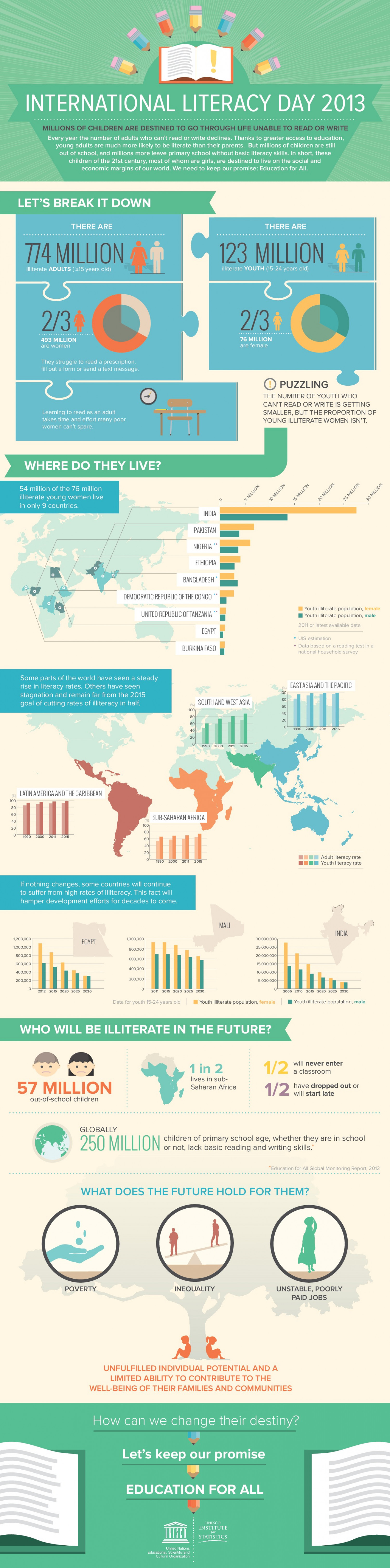 International Literacy Data Infographic