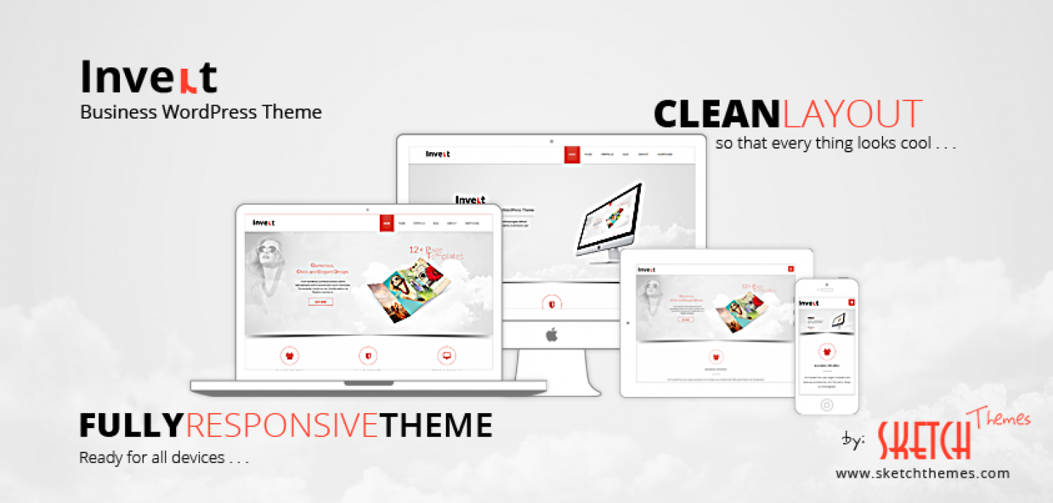 Invert - Responsive MultiPurpose WordPress Theme by Sketch Themes Infographic