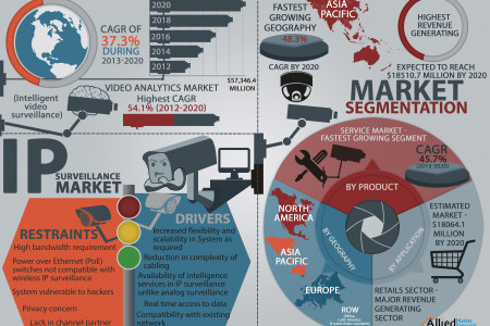 The Global IP Surveillance Market  Infographic