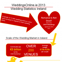 Irish Wedding Statistics Infographic
