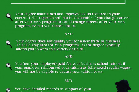 Is Your MBA Graduate Degree Tax-Deductible? Infographic